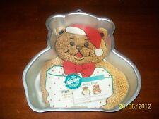 WILTON SANTA BEAR BIRTHDAY,CHRISTMAS,HOLIDAY MOLD,CAKE PAN,TIN