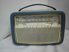 VINTAGE Radio AKKORD in Pelle Versione VALIGIA radio radio a transistor 50s 60s
