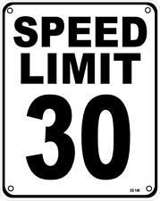 Límite de velocidad 30 Aluminio Funny Pared signo (SS)
