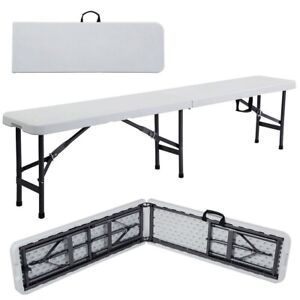 6' Portable Folding Table Plastic Indoor Outdoor Picnic Camp Party Dining White