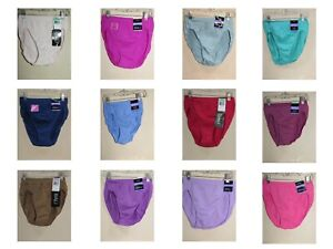 New Bali Comfort Revolution Seamless Nylon Hi-Cut Panties Sz 6 / 7 8 / 9 10 / 11