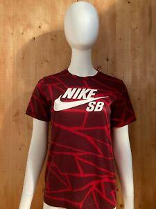 NIKE SB DRI FIT Graphic Print Youth Unisex T-Shirt Tee Shirt L Large Lrg Red