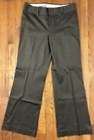 Banana Republic Jackson Fit Womens Dress Pants Olive Gray Stretch Sz 8S W31 L30