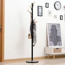 174cm Free Standing Coat Rack Hat Stand Display Garment Holder Hall Tree Marble
