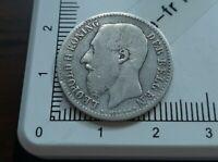 H13201 1 franc belge 1887 leopold flammand qualité pièce monnaie royale argent