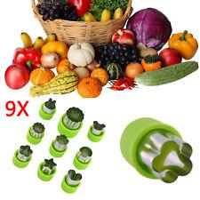 9xStainless Steel Fruit Vegetable Mini Cookie Shape Cutters Set Kid Food Mold UK
