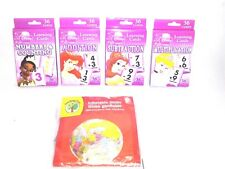 Disney Princess Learning Flash Cards Add subtract multiply + Inflatable Globe