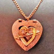 """Small Gem & 13 inch Necklace Vintage """"Gold Toned"""" Children's Locket With"""