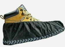 Premium 100 Pack Black Industrial Disposable Shoe Covers for Men and Women