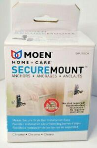 Moen SMA1000CH Home Care Secure Mount ADA Compliant Grab Bar Anchors 2pk