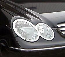 Mercedes CLK W209 Chrome Headlight TRIM X 2