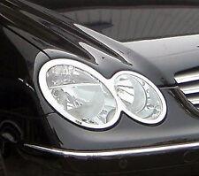 MERCEDES CLK W209 Chrome Headlight Trim x 2