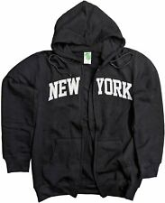Men's New York City Zippered Hoodie Sweatshirt Black
