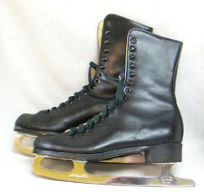 Men's Ice Skates in OB Canadian Tempered Steel Blades Native American on Lid