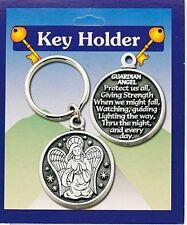 GUARDIAN ANGEL Key Ring & Prayer - Guardian angel Protect us all .....
