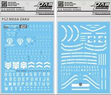 US Seller Gundam water slide decal D.L Dalin Mega Size Green Zaku 1/48 Gunpla