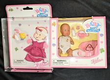 New Baby Born Mini World, doll with accessories, Nib, vintage + Extra outfit!