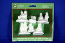 New ListingCalifornia Creations Ready to Paint Pottery Christmas Figures Nos 6 Pieces