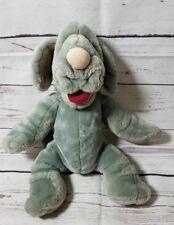 "Vtg Ganz Bros Puppet Plush Wrinkles 16"" Gray Blue Dog Stuffed 1981 Toy Retro"