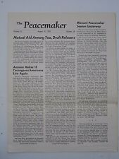Anti War Paper  The Peacemaker   August 15 1970 News Mailer