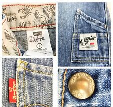 57121537 Vintage Levi's Boy Sz 5 Denim Jeans Red Tab copyright Painters Loop  Collectible