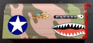 Flying Tigers Shark Teeth P-40 Warhawk WW2 Mailbox sticker decal graphics
