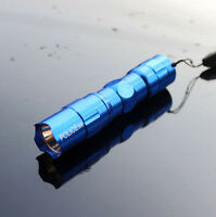 Blue Outdoor Sports Camping Tent Mini 3W LED Torch Handy Flashlight Use 1*AA