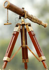 De Cube Vintage Brass Telescope with Best DF Lens and Adjustable Tripod Stand