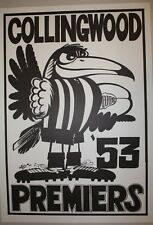 1953 Collingwood Premiers Weg poster Magpies Premiership Grand Final