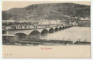 """NORWAY - DRAMMEN - """" FRA DRAMMEN """" / BRIDGE - c1905 Postcard - N.K. No. 6"""