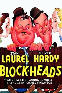 LAUREL AND HARDY BLOCKHEADS SUPER 8 B/W SOUND 3 X 400FT CINE FILM 8MM FEATURE