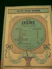 Alice Blue Gown from Irene musical comedy by James Montgomery