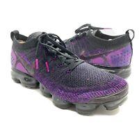 Nike Air Vapormax Flyknit 2 Black Night Purple Mens Size 12 Rare 942842-013
