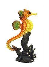 9.25 Inch Sea Horse Statue Ocean Wild Animal Nautical Glazed Figurine Figure