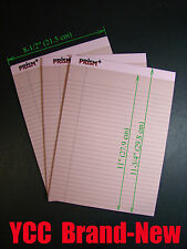 Tops Prism Legal Ruled Perforated Writing Pad 50 s' 8-1/2x11-3/4in Pink, 3 pk