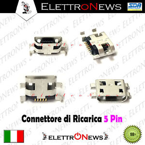 Connettore ricarica Micro usb Tablet Archos 70 7o 70B Helium Copper 7 A028