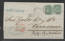 GREAT BRITAIN #64 Plate 9 cover to Mexico pair