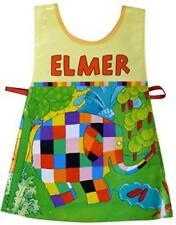 Elmer El Elefante Diseño plástico recubierto de Niño Verde Tabardo Delantal Shreds Nuevo