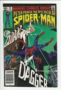 Peter Parker, The Spectacular Spider Man #64 1st App Cloak & Dagger Marvel 1982