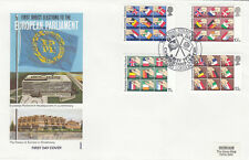 (08648) Gb philart FDC elecciones europeas Centro De Sello De Camafeo starand 9 de mayo de 1979