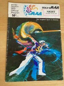 Vintage Ocala Jai Alai Program (1975)