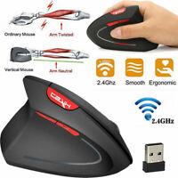 Ergonomic Vertical Mouse 2.4GHz 2400DPI 6 Keys Optical Mice for PC Computer