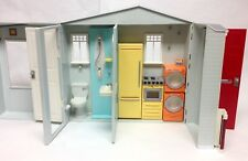 Barbie 2005 Totally Real House Playset Dollhouse With Sounds Kitchen Bathroom