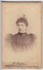 (f601+) ORIG. kabinettfoto mujer, fotogr. H. confirmando, Hannover, 1920er