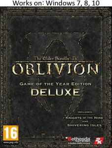 Elder Scrolls IV Oblivion Game of the Year Edition Deluxe PC Game Windows 7 8 10