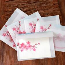 10pc/Set Vintage Peach Blossom Sulfuric Acid Paper Envelope Letter Organizer Bag