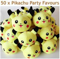 50 Pikachu Plush Soft Toy Pokemon Anime Kids Party Favours Bulk Lot Lots Markets