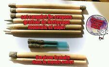 set complet de 8 Crayons grattoir de nettoyage monnaie ancienne retauration
