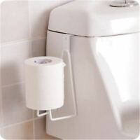 Toilet Paper Towel Holder Kitchen Roll Rack Under Cabinet Storage Hanger Shelf