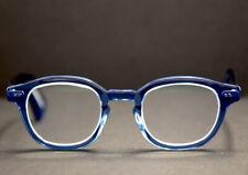 Epos Classic Bronte 3 Glasses Spectacles Frames Blue Handmade